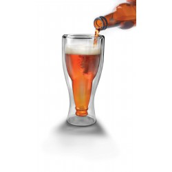 Vaso cerveza cristal doble pared